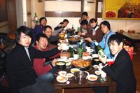 韓国料理屋さんにてカンペイ!(乾杯)